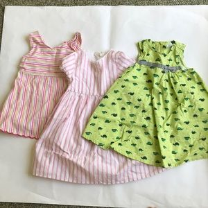 Lot of 3 12-18 month girl's dresses